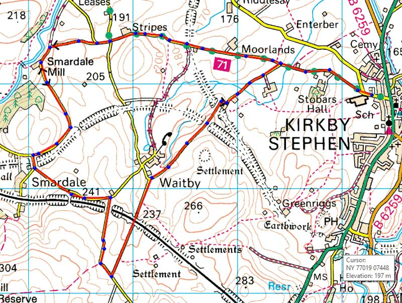 kirkby stephen 10k map