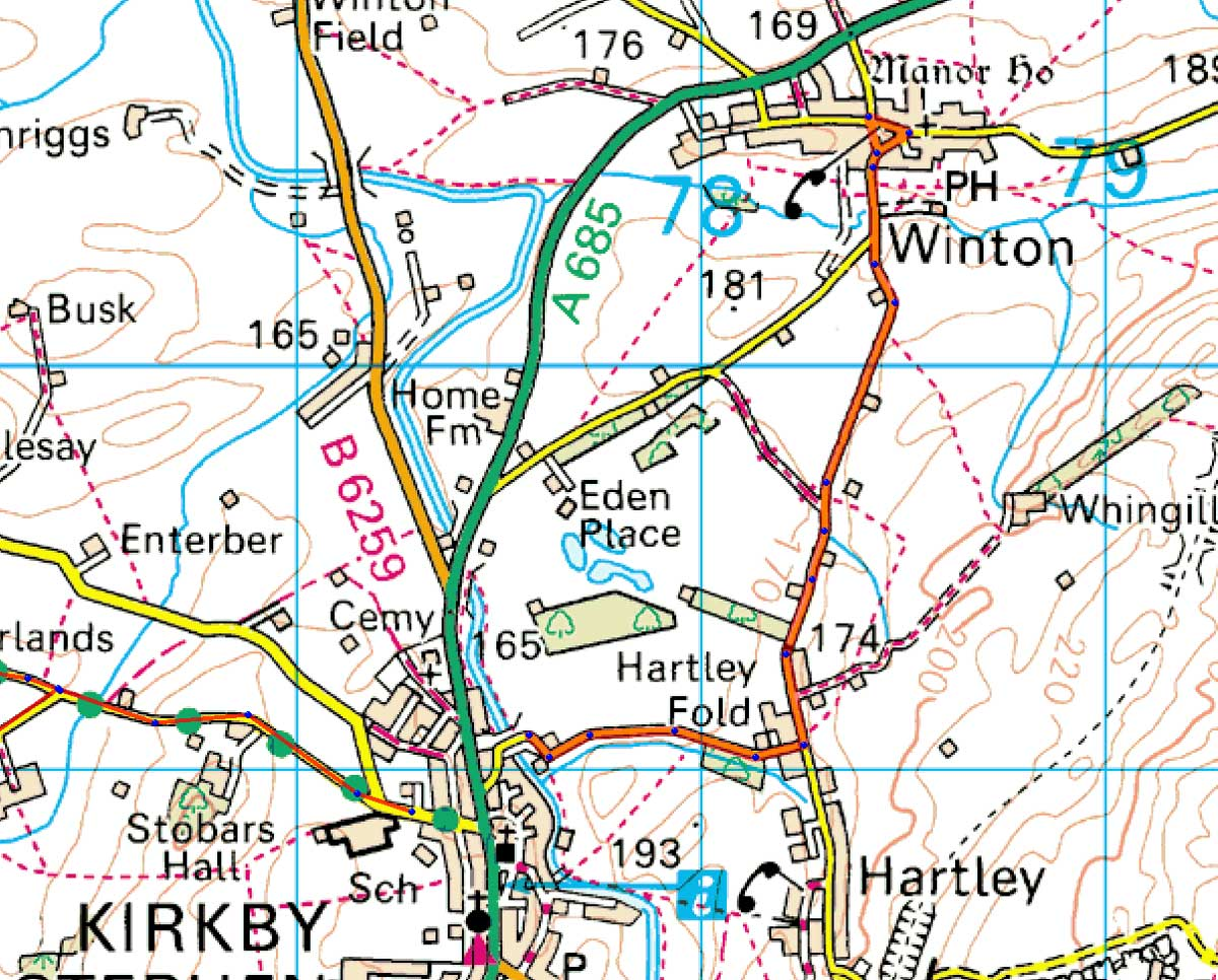 kirkby stephen 5k map